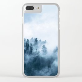 The Wilderness, Foggy Forest Clear iPhone Case