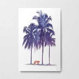 RED FOX IN THE CARRIBEAN Metal Print