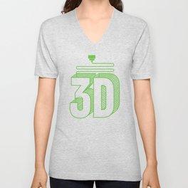 3D Printing Gift Funny 3D Print CNC CAD CAM Fan Art product Unisex V-Neck