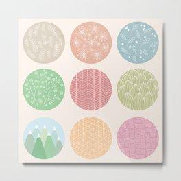 Circle pattern 01 Metal Print