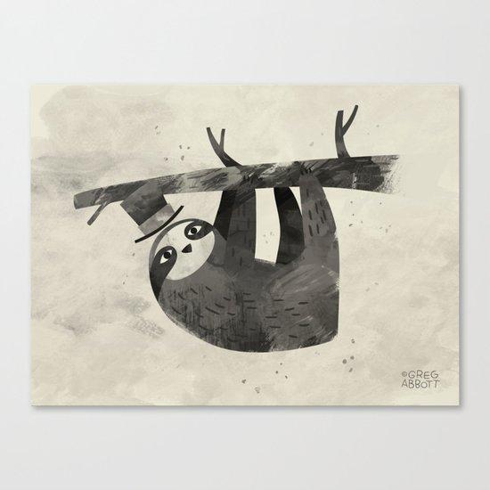 Mr. Sloth Canvas Print