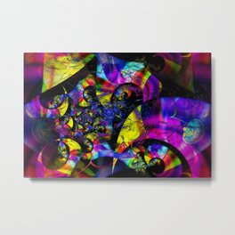 Retro Psychedelic 3D Optical Metal Print