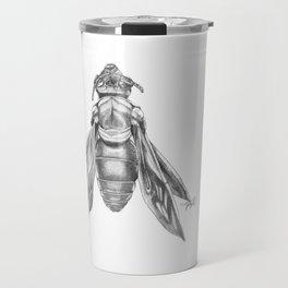 Orchid Bee Illustration Travel Mug