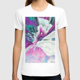 Obvious Subtlety Glitched Fluid Art T-shirt
