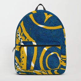 Linocut Print_1 Backpack
