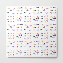 All the Colored Horses! Metal Print