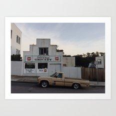 Hilltop Grocery in San Francisco Art Print