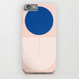 Abstraction_SUN_BLUE_LINE_POP_ART_Minimalism_020A iPhone Case