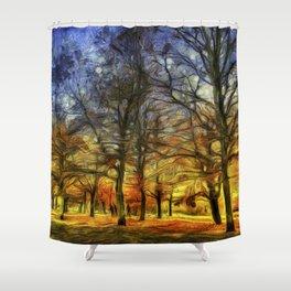 Greenwich Park London sunset Art Shower Curtain