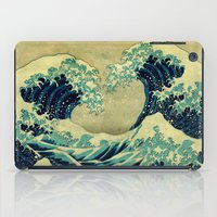 weird iPad Cases featuring The Great Blue Embrace at Yama by Kijiermono