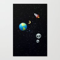 emoji Canvas Prints featuring Space Emoji by jajoão