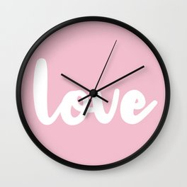 Love Pink Wall Clock