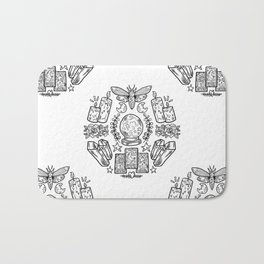Witch Coven: Tarot Cards and Crystal Balls Bath Mat