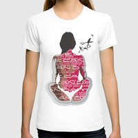 health T-shirts featuring Love can damage your health by Sedef Uzer