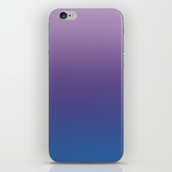 Ultra Violet Blue Lilac Ombre Gradient Pattern iPhone Skin