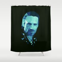 grimes Shower Curtains featuring Rick Grimes - The Walking Dead by Dr.Söd