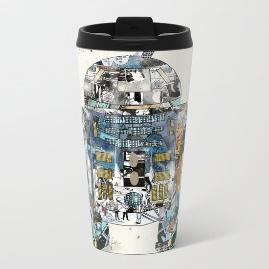 pop art r2 Metal Travel Mug