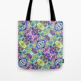 Colorful Modern Floral Print Tote Bag