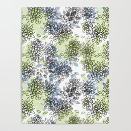 Abstract flowers .16 Poster