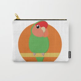 Peach Faced Lovebird Carry-All Pouch