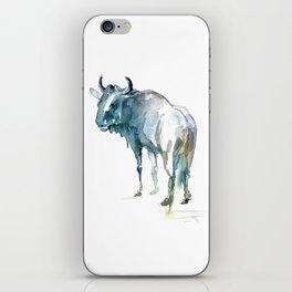 Wildebeest / Abstract animal portrait. iPhone Skin