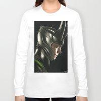 loki Long Sleeve T-shirts featuring Loki by Hilary Rodzik