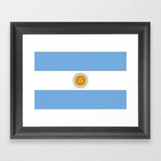 Flag Of Argentina Framed Art Print