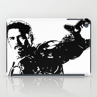 robert downey jr iPad Cases featuring Iron Man - Robert Downey Jr by bailey harper