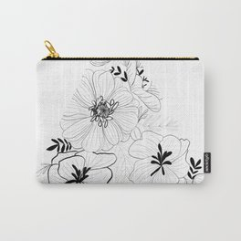 Geometric Floral Carry-All Pouch