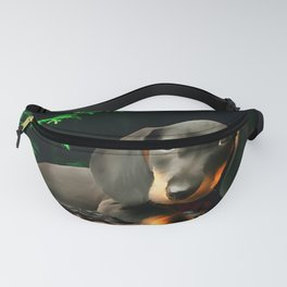 A Dachshund Puppy. (Painting) Fanny Pack