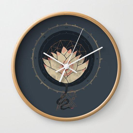 Lotus Wall Clock By Hector Mansilla Society6