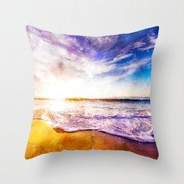 California Sunset, USA Throw Pillow