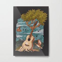 Music Nature Guitar Tree Metal Print