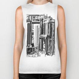 Abstract City #2 Biker Tank