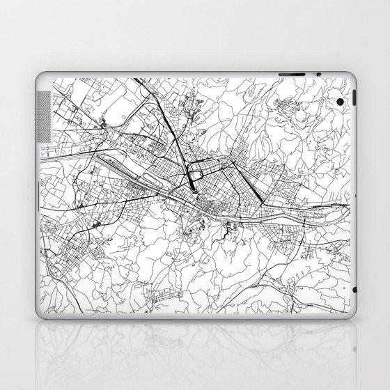Florence White Map Laptop & iPad Skin