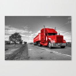 Big Red Rig  Canvas Print