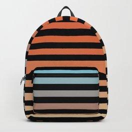 Classic Orange Abstract Minimal Rainbow Retro Summer Style Stripes Backpack