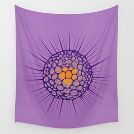 funky sea ​​urchin with heart Wall Tapestry