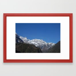 Home is where the mountain are. Framed Art Print