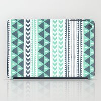 shipping iPad Cases featuring Winter Stripe by Alice Rebecca Potter