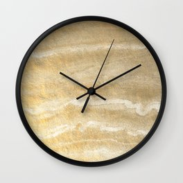 Marble motion - gold Wall Clock
