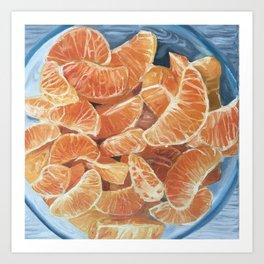 Mandarinas Art Print