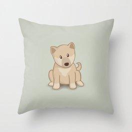 Shiba Inu Dog Illustration Throw Pillow