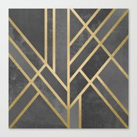 deco Canvas Prints featuring Art Deco Geometry 1 by Elisabeth Fredriksson