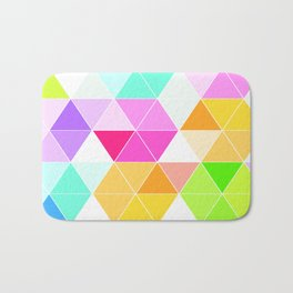 Colorful Triangle Mosaic Bath Mat