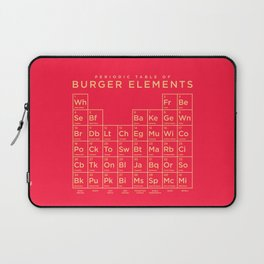 Periodic Table of Burger Elements - Red Laptop Sleeve