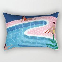 Pool ladies Rectangular Pillow