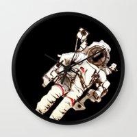 astronaut Wall Clocks featuring Astronaut by Kristin Frenzel