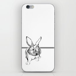 white rabbit iPhone Skin