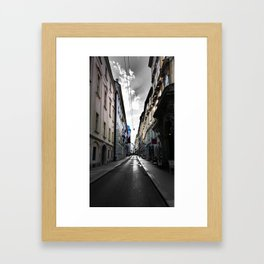 Graphic Alley In Vienna Framed Art Print
